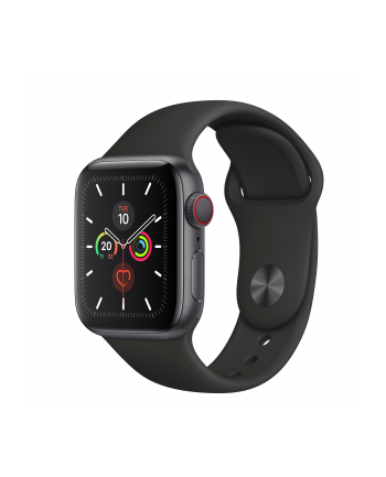 Apple Watch S5 Aluminum 40mm grey - Sports Wristband black MWX32FD / A