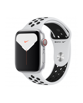 Apple Watch Nike + S5 44mm silver - Sport bracelet platinum / black MX3E2FD / A