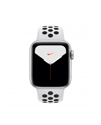 Apple Watch Nike + S5 Aluminum 40mm silver - Sport bracelet platinum / black MX3R2FD / A