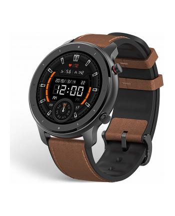 Xiaomi Huami Amazfit GTR, SmartWatch(black, brown leather strap)