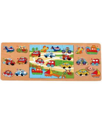 brimarex Top Bright Puzzle drewniane 25el. 3w1 Pojazdy 4752
