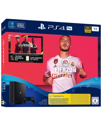 sony interactive entertainment Sony PlayStation 4 Pro + FIFA 20 1TB bk - 1000GB, Black, CUH-7216B