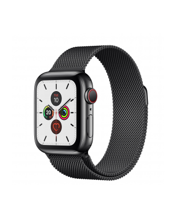 Apple Watch S5 Milanese bracelet 40mm black - Milanaise spaceblack MWX92FD / A