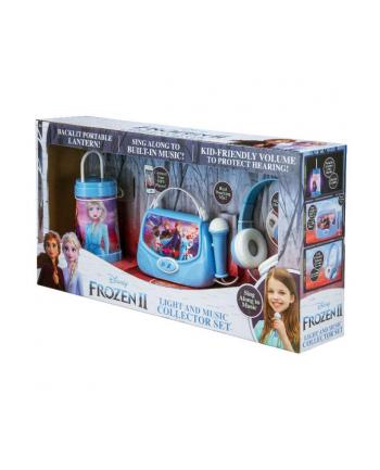 ekids Zestaw 3w1 Torebka karaoke z mikrofonem, słuchawki, latarenka. Kraina Lodu (można podłączyć MP3) FR-300