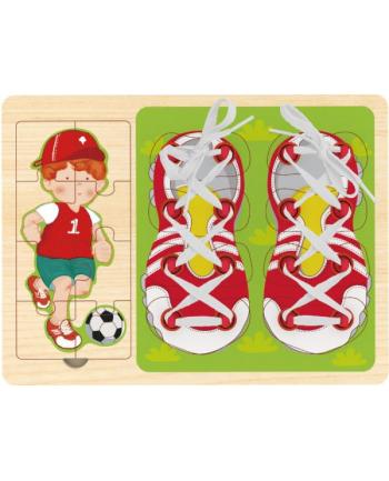 brimarex Top Bright Sznurowanka i puzzle 2w1 Piłkarz
