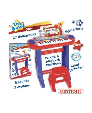Bontempi Elektroniczne organy ze statywem, krzesełkiem i mikrofonem 33443 DANTE
