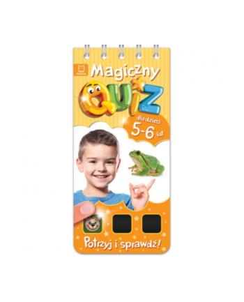 aksjomat Książka Magiczny quiz dla dzieci 5-6 lat. Pomarańczowy