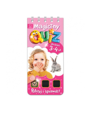 aksjomat Książka Magiczny quiz dla dzieci 3-4 lata. Różowy