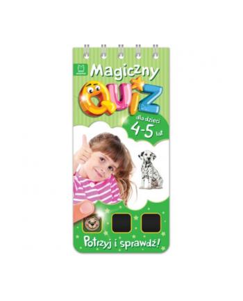 aksjomat Książka Magiczny quiz dla dzieci 4-5 lat. Zielony