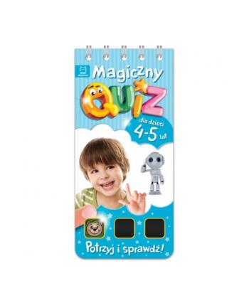 aksjomat Książka Magiczny quiz dla dzieci 4-5 lat. Niebieski
