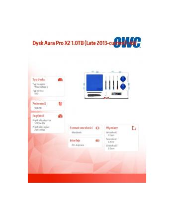 owc Dysk Aura Pro X2 960GB (Late 2013-current) +kit