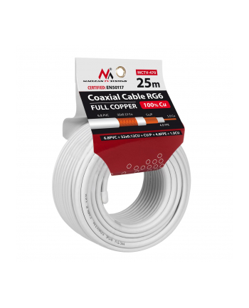 Kabel koncentryczny Maclean MCTV-470 (25m ; kolor biały)