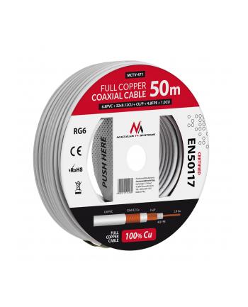 Kabel koncentryczny Maclean MCTV-471 (50m ; kolor biały)