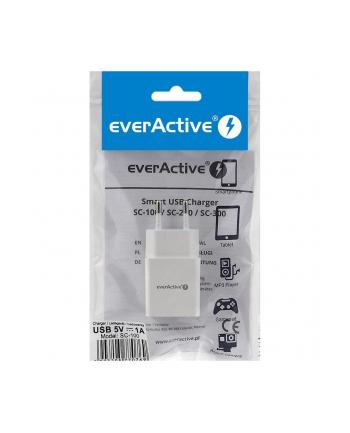 Ładowarka sieciowa everActive SC-100 (USB; kolor biały)