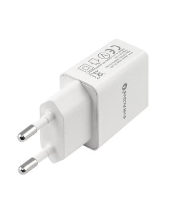 Ładowarka sieciowa everActive SC-200 (USB; kolor biały)