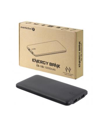 Power Bank everActive EB-10k (10000mAh; microUSB  USB 20 x2; kolor czarny)