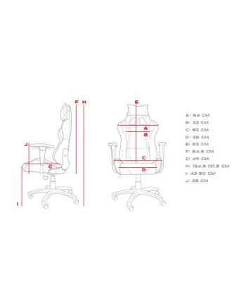 Fotel gamingowy NATEC Genesis Nitro 440 NFG-1533 (kolor czarny)