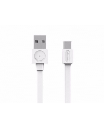 Kabel allocacoc USBcable Usb-C Flat 10453WT/USBCBC (USB 20 typu A ; kolor biały)