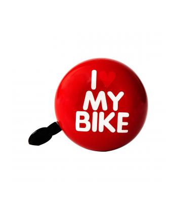 bike belle Dzwonek do roweru I LOVE MY BIKE XXL  czerwony