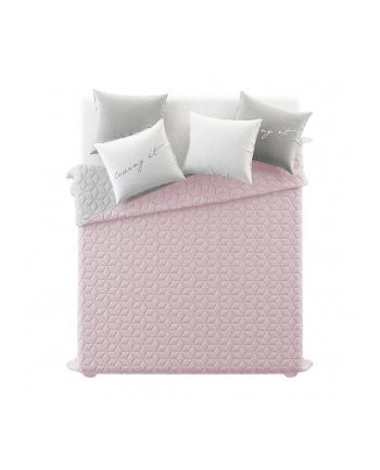 Narzuta dwustronna Room99 NEXT CUBE LM (200 x 220 cm; kolor różowo-szary)