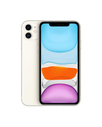 Smartfon Apple iPhone 11 128GB White (6 1 ; IPS  LCD  Liquid Retina HD  Multi-Touch  Technologia True Tone; 1792x828; 4GB; 3110 mAh)