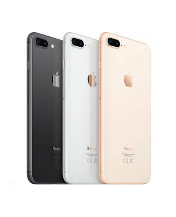 Smartfon Apple iPhone 8 Plus 128GB Silver (5 5 ; IPS  LCD  Multi-Touch  Retina HD  Technologia True Tone; FullHD 1920x1080; 3GB; 2691mAh)