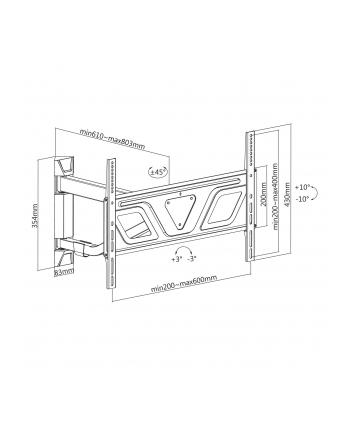 Uchwyt ścienny do telewizora Maclean MC-810C (narożny; 37  - 80 ; max 50kg)