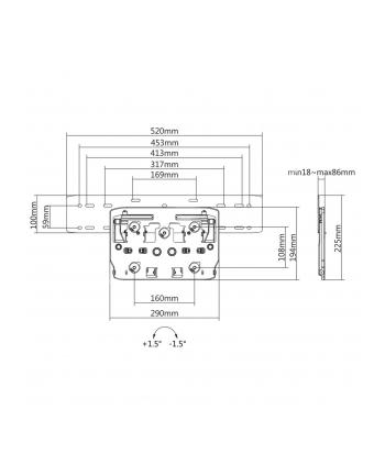 Uchwyt ścienny do telewizora Maclean MC-837 (ścienne ; max 50kg)