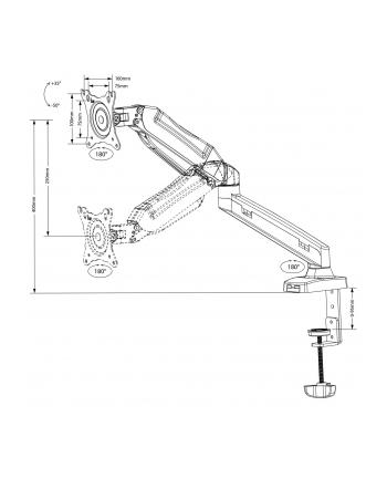 Uchwyt biurkowy do monitora Maclean MC-860 (biurkowy; 13  - 27 ; max 8kg)
