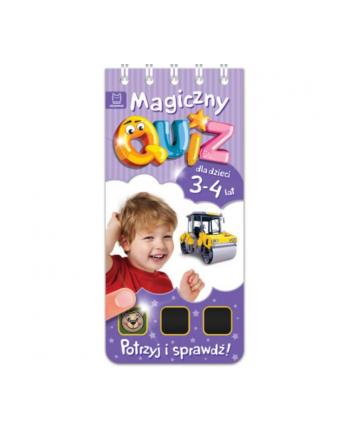 aksjomat Książka Magiczny quiz dla dzieci 3-4 lata. Fioletowy