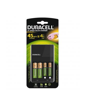 Ładowarka DURACELL do akumulatorów CEF14 + aku 4szt