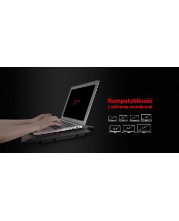 Podstawka chłodząca pod laptop HAVIT F2081 (16 - 17x cali; 4 wentylatory; HUB)