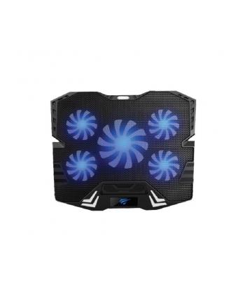 Podstawka chłodząca pod laptop HAVIT F2082 (16 - 17x cali; 5 wentylatorów; HUB)