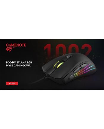 Mysz komputerowa HAVIT MS1002 (optyczna; 6400 DPI; kolor czarny)
