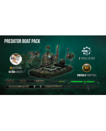 plug in digital Gra Mac OSX  PC The Fisherman - Fishing Planet: Predator Boat Pack (wersja cyfrowa; DE  ENG  PL - kinowa; od 3 lat)