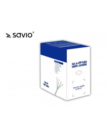 Patchcord SAVIO CLA-05 (RJ45 M - RJ45 M; 305m; kolor szary)