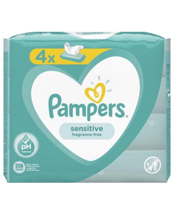 Zestaw chusteczek Pampers Chusteczki Pampers Sensitive 4x52 (52)