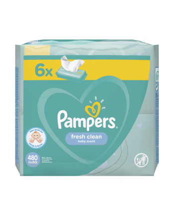 Zestaw chusteczek Pampers Chusteczki Pampers FreshClean 6x80 (80)