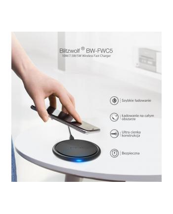 Ładowarka indukcyjna do smartfona BlitzWolf BW-FWC5 (Micro USB; kolor czarny)