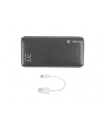 Power Bank NATEC Extreme Media Trevi NPB-1512 (20000mAh; microUSB  USB typ A  USB-C; kolor czarny)