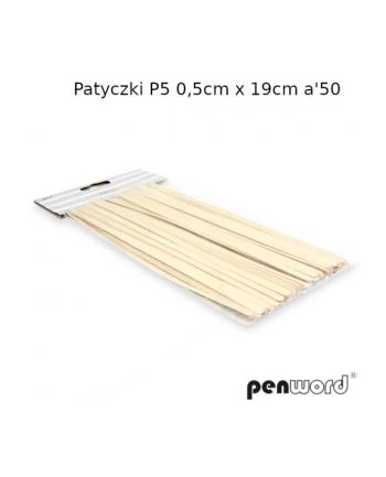 polsirhurt Patyczki P5 0,5cmx19cm 50szt kolor drzewa