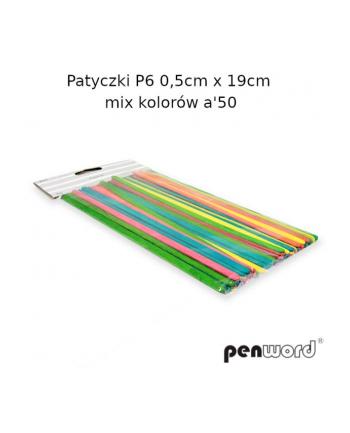 polsirhurt Patyczki P6 0,5cmx19cm 50szt mix kolorów