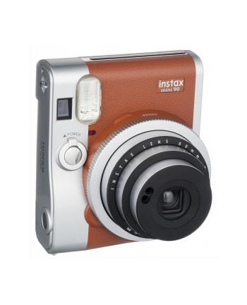 fujifilm Aparat Instax Mini 90 neo Classic brązowy + wkład Instax mini 10szt +  brązowe etui