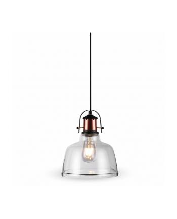 v-tac Lampa wisząca VT-7220-T szkło+metal, przezroczysta E27 220x280x1150mm