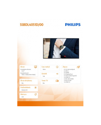 philips Monitor 55BDL4051D 55 cali Public Display 24/7