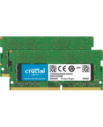 crucial Pamięć DDR4 SODIMM 64GB/2666 (2*32GB) CL19