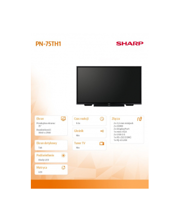 sharp Monitor 75 cali PN75TH1