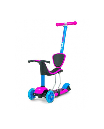 Hulajnoga Scooter Little Star Pink Blue 3w1 Milly Mally