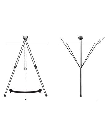 axis Teleskopowy uchwyt sufitowy do kamer T91B50