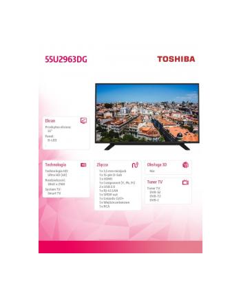 toshiba Telewizor 55 cali 4K 55U2963DG